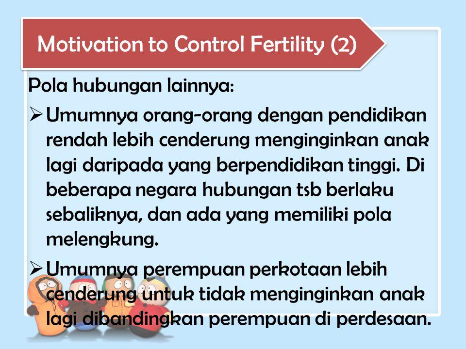 Motivation to Control Fertility (2)