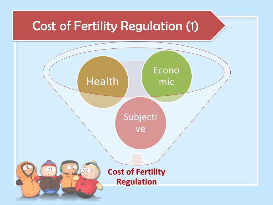 Cost of Fertility Regulation