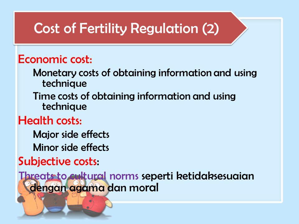 Cost of Fertility Regulation (2)