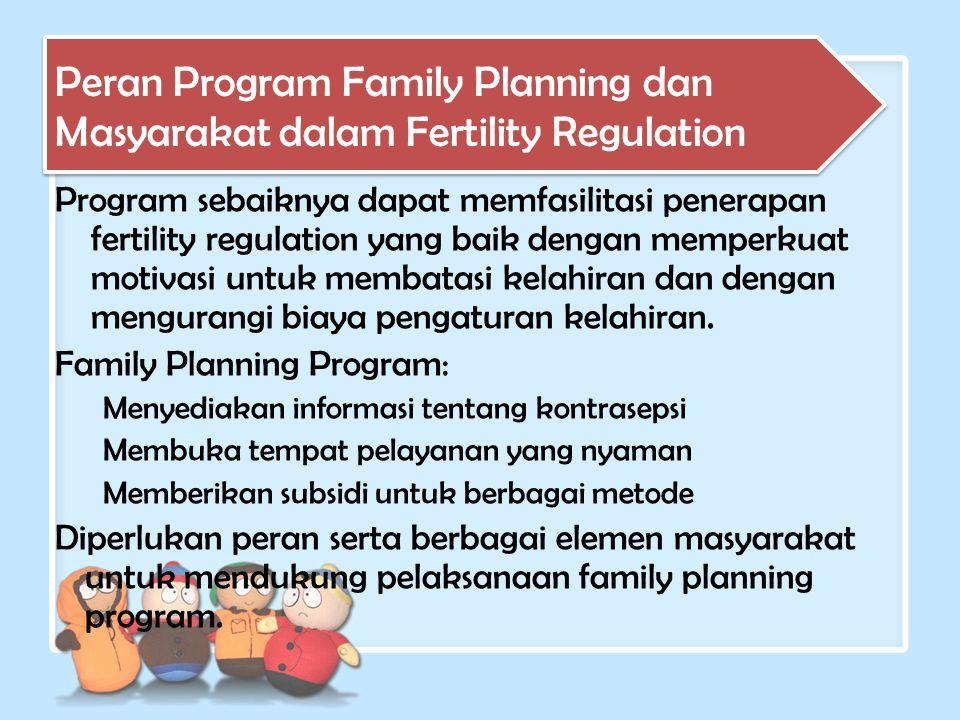 Peran Program Family Planning dan Masyarakat dalam Fertility Regulation