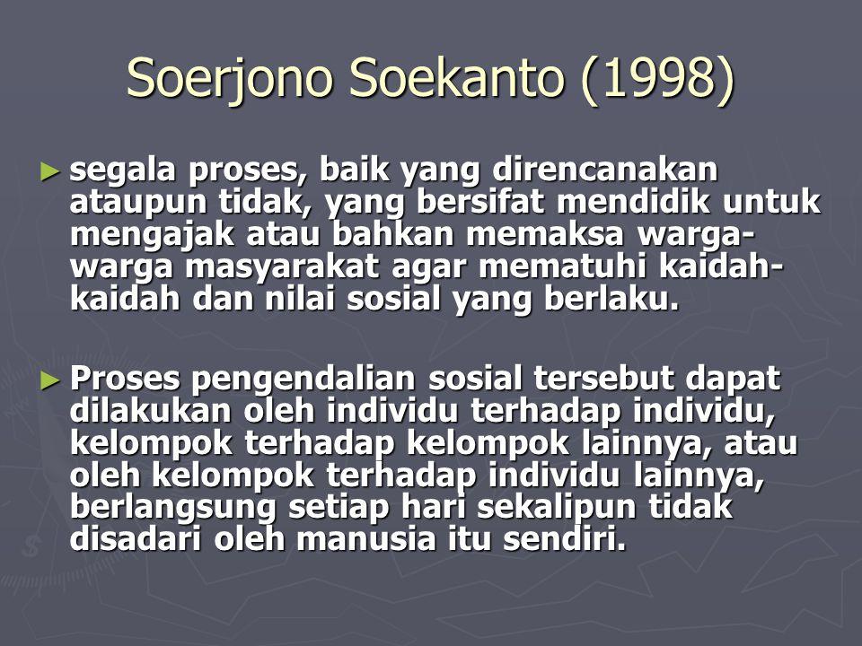 Soerjono Soekanto (1998)