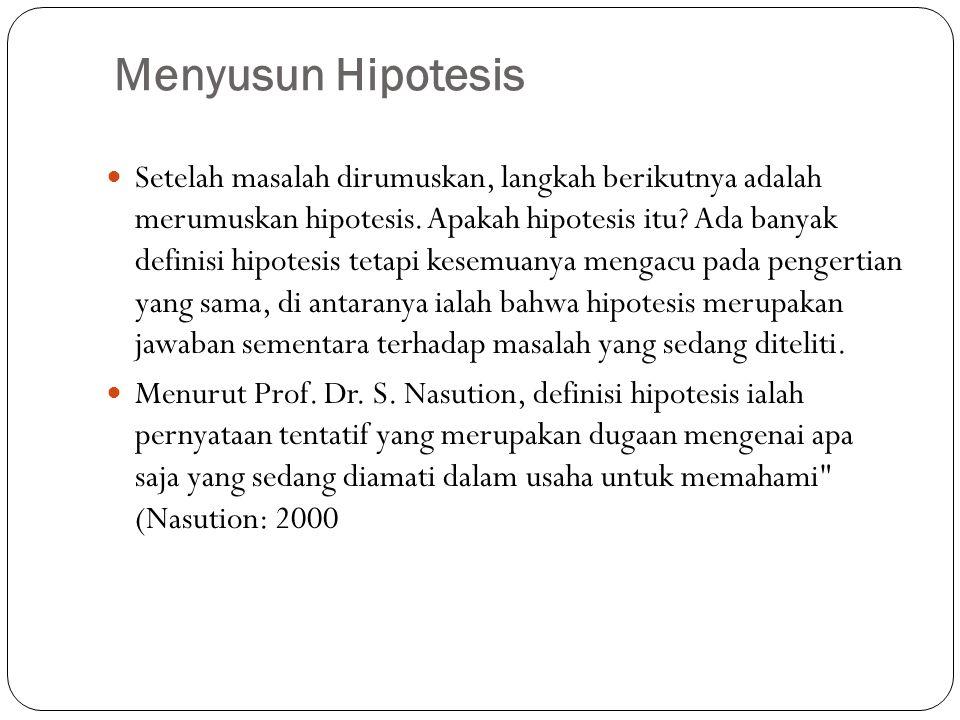 Menyusun Hipotesis