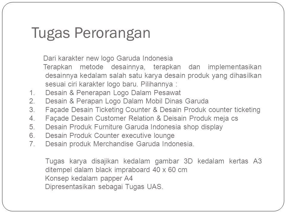 Tugas Perorangan Dari karakter new logo Garuda Indonesia