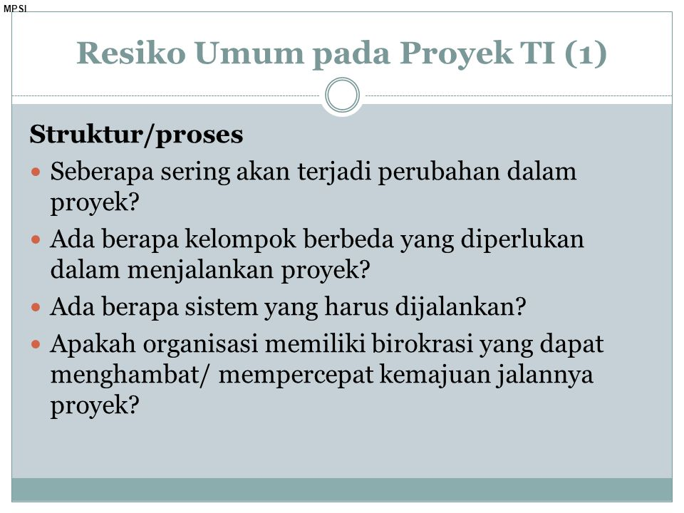 Resiko Umum pada Proyek TI (1)