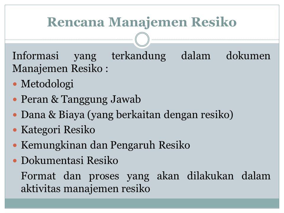 Rencana Manajemen Resiko