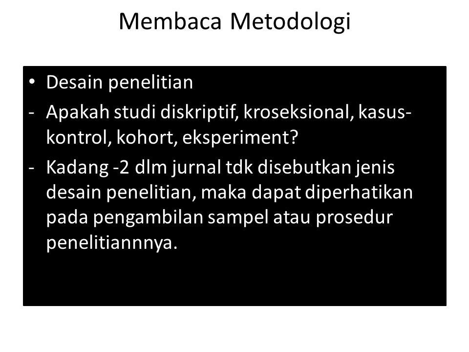 Membaca Metodologi Desain penelitian