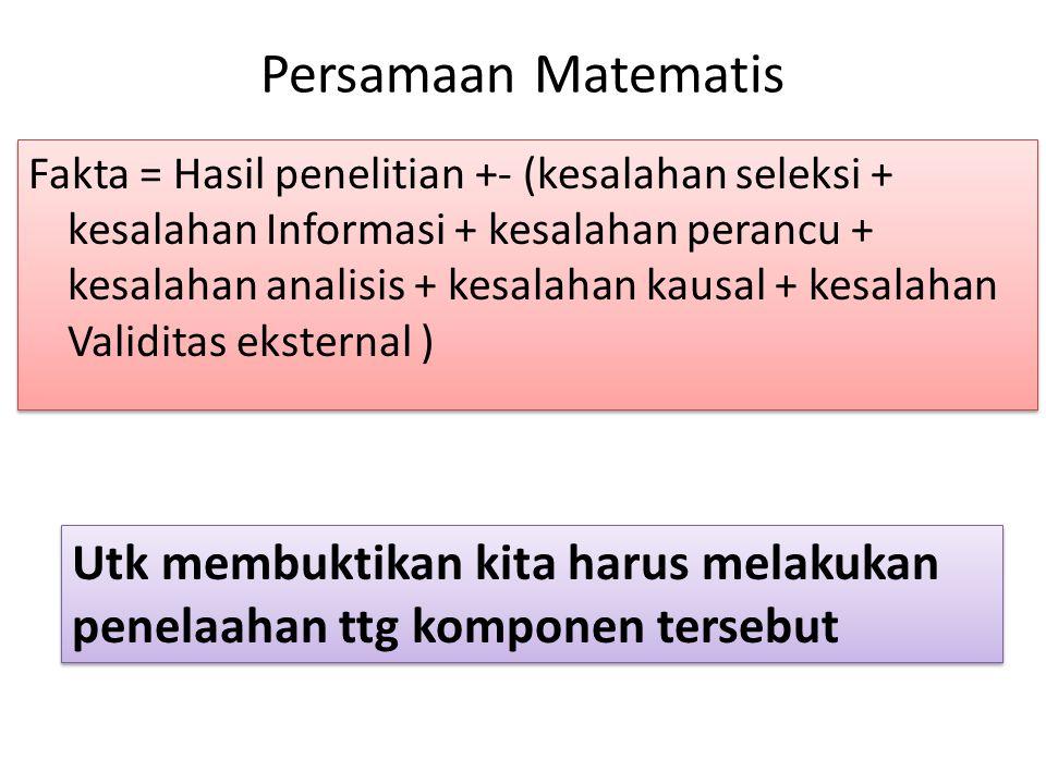Persamaan Matematis