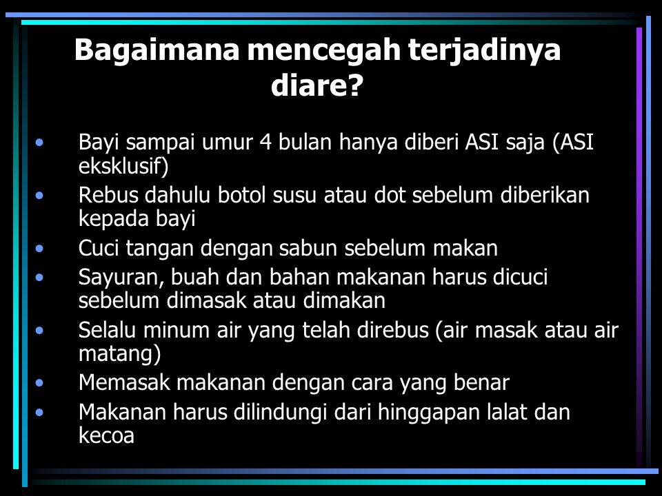 Bagaimana mencegah terjadinya diare