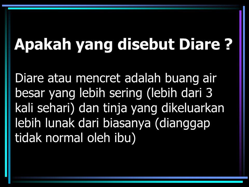 Apakah yang disebut Diare