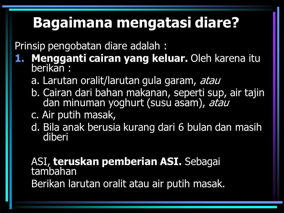Bagaimana mengatasi diare