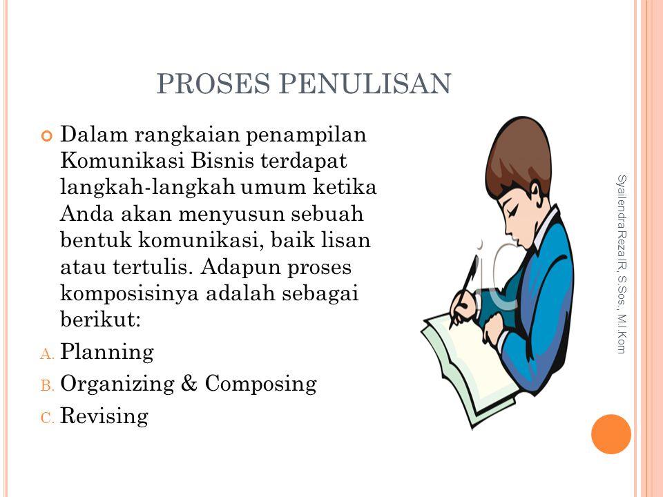 PROSES PENULISAN