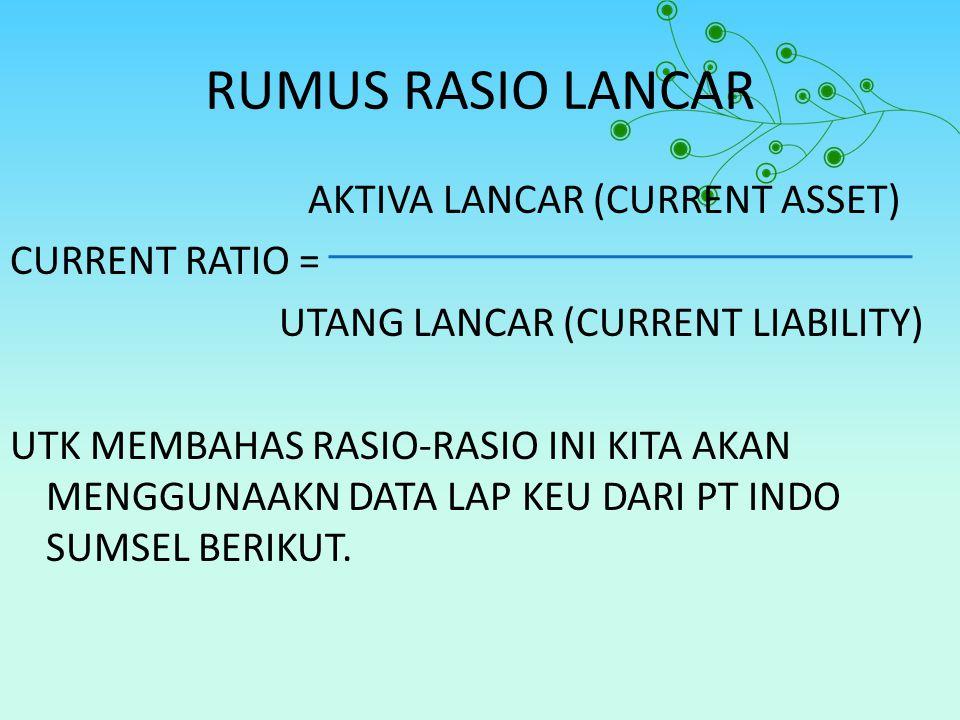 RUMUS RASIO LANCAR