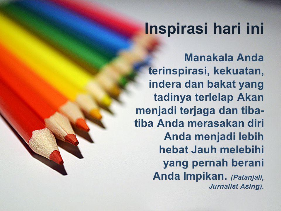 Inspirasi hari ini