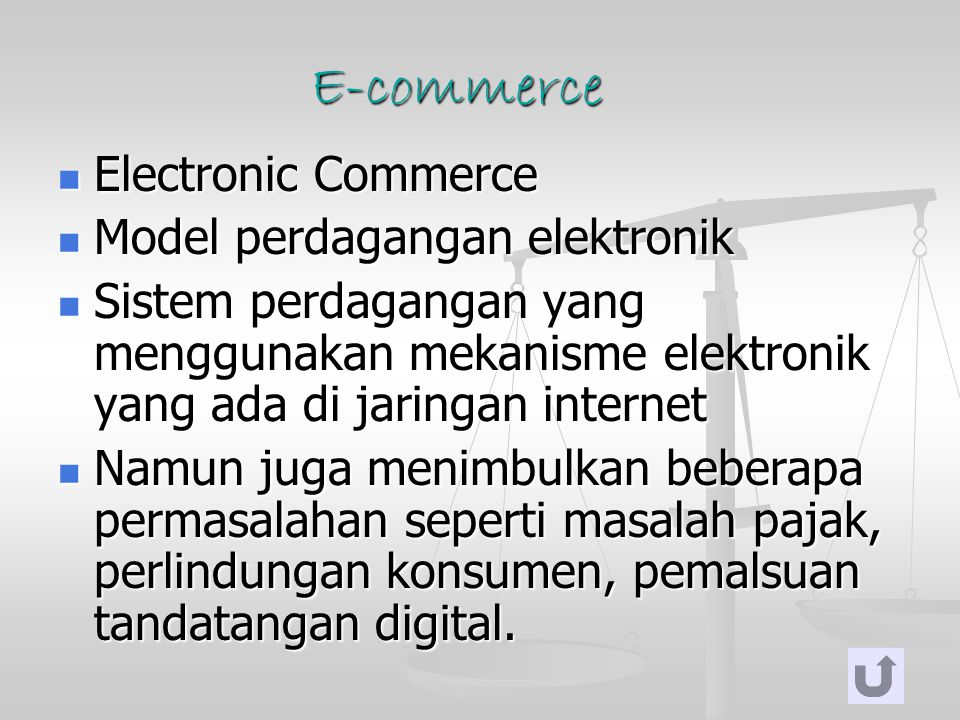 E-commerce Electronic Commerce Model perdagangan elektronik