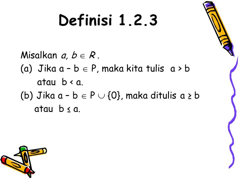 Definisi 1.2.3 Misalkan a, b  R .