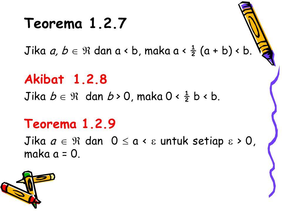 Teorema 1.2.7 Akibat 1.2.8 Teorema 1.2.9