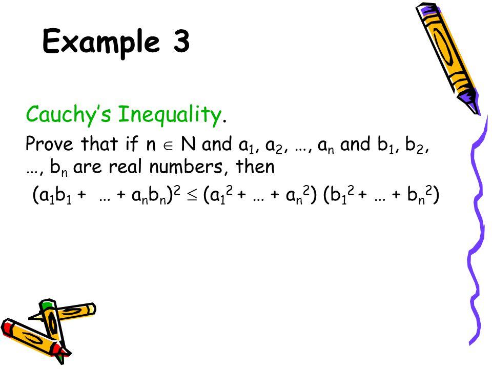 (a1b1 + … + anbn)2  (a12 + … + an2) (b12 + … + bn2)