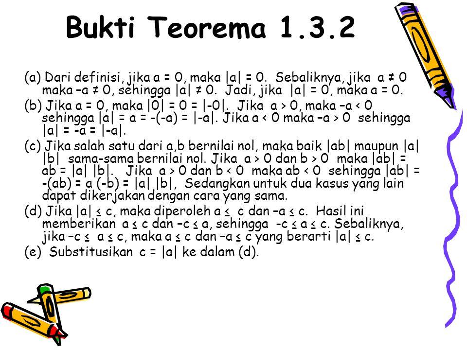 Bukti Teorema 1.3.2