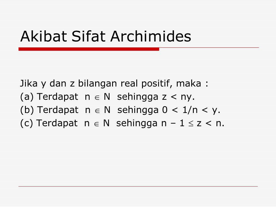 Akibat Sifat Archimides