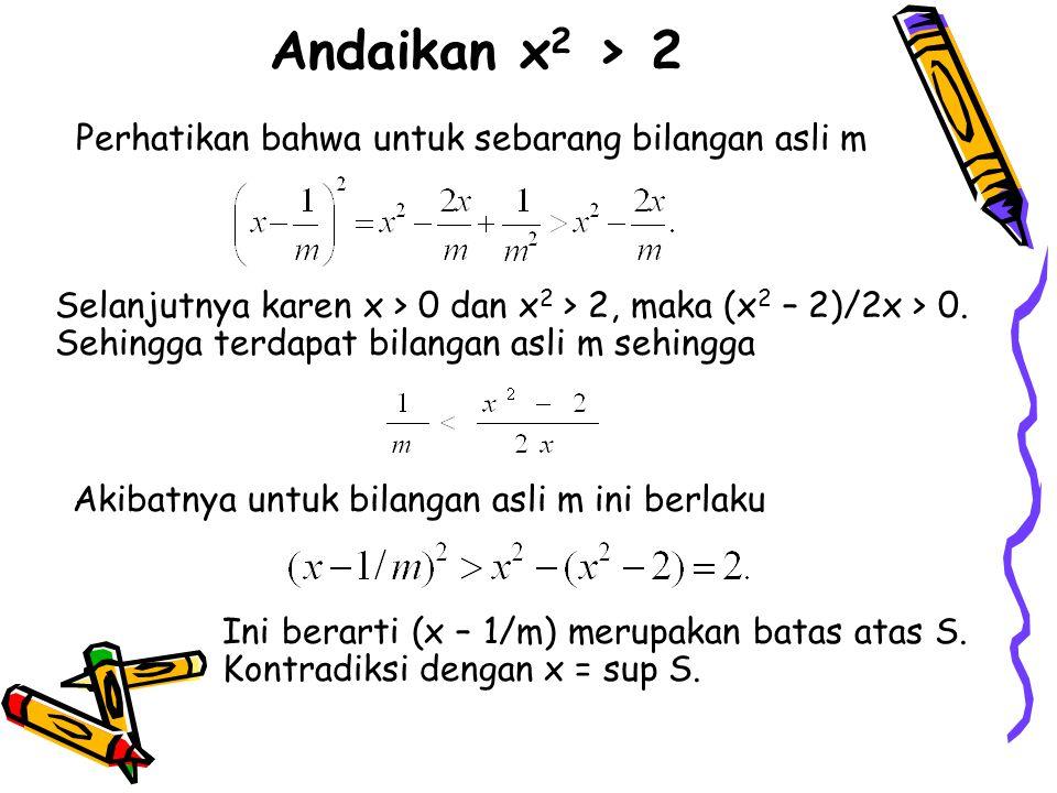 Perhatikan bahwa untuk sebarang bilangan asli m