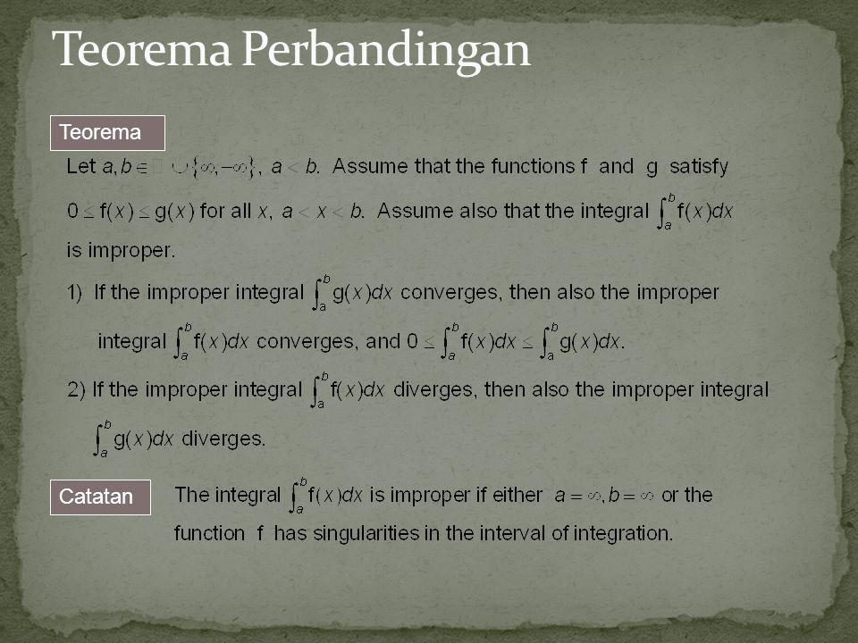 Teorema Perbandingan Teorema Catatan 23