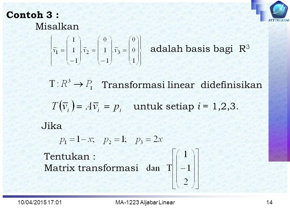 Transformasi linear didefinisikan