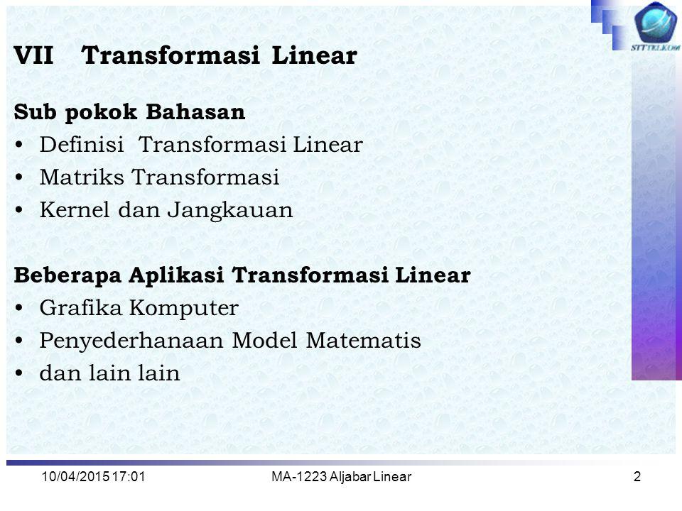 VII Transformasi Linear