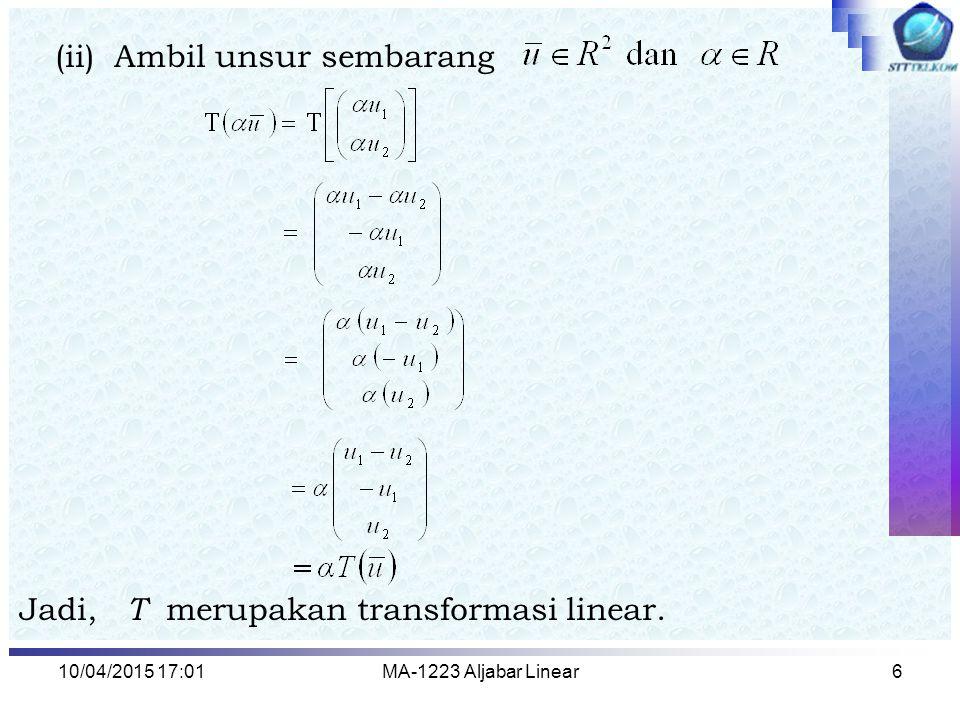 (ii) Ambil unsur sembarang