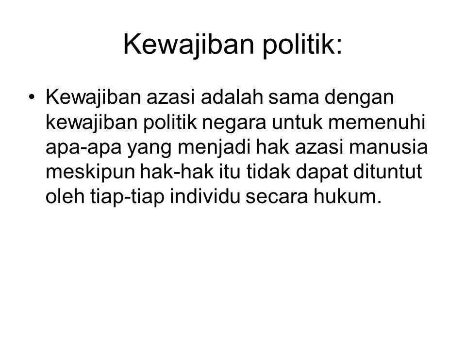 Kewajiban politik: