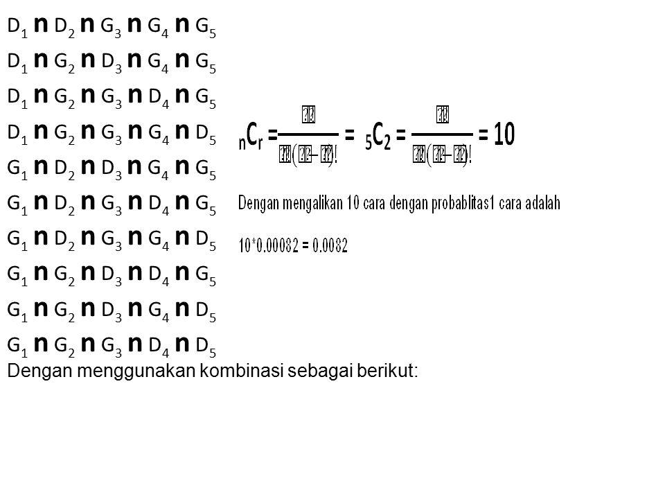 D1 n D2 n G3 n G4 n G5 D1 n G2 n D3 n G4 n G5 D1 n G2 n G3 n D4 n G5