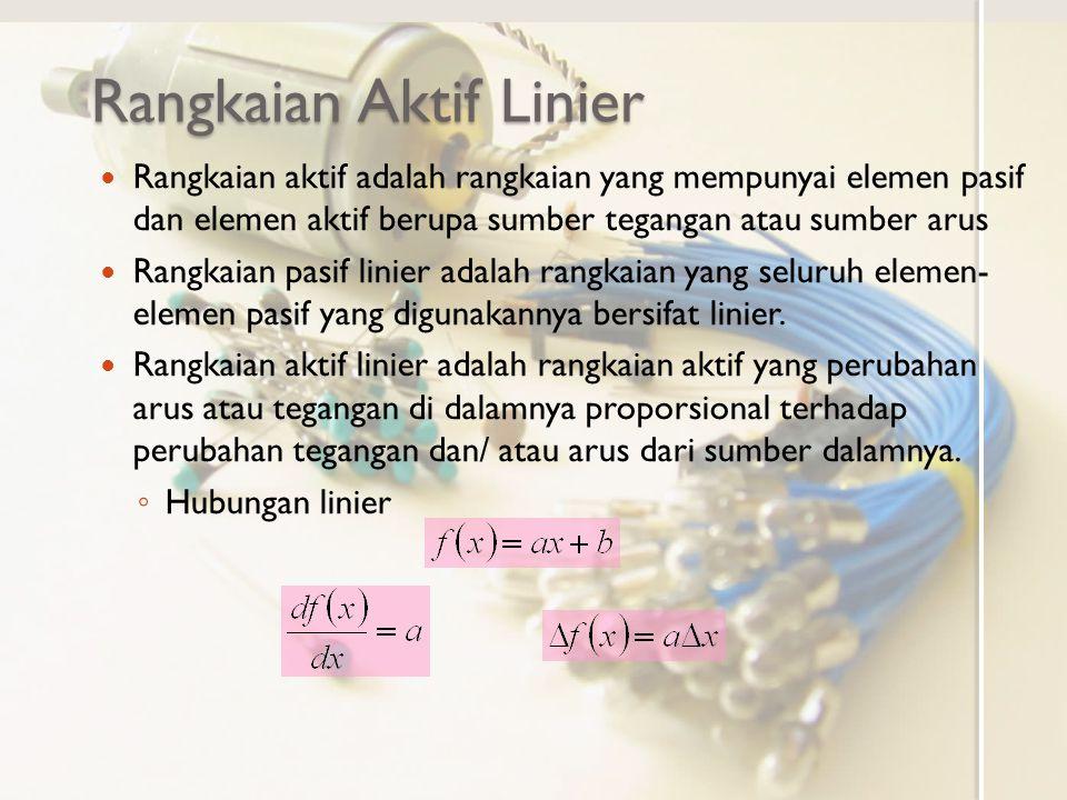 Rangkaian Aktif Linier