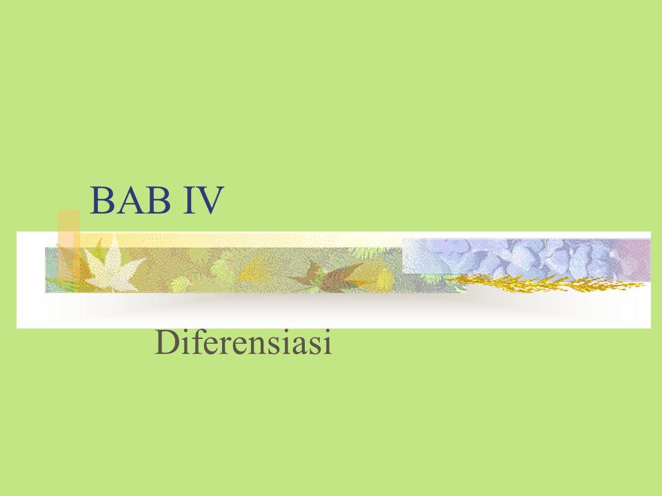 BAB IV Diferensiasi
