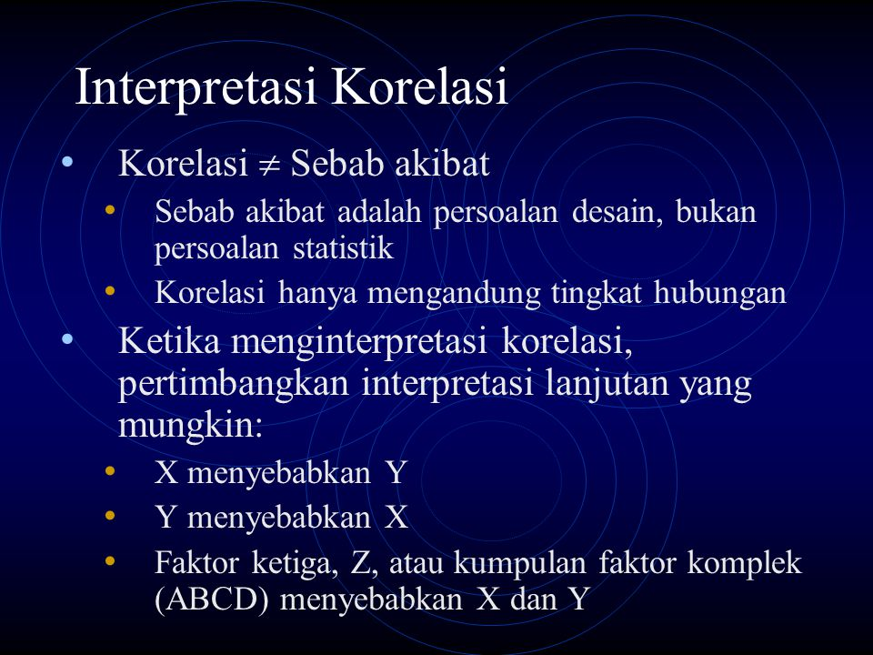 Interpretasi Korelasi