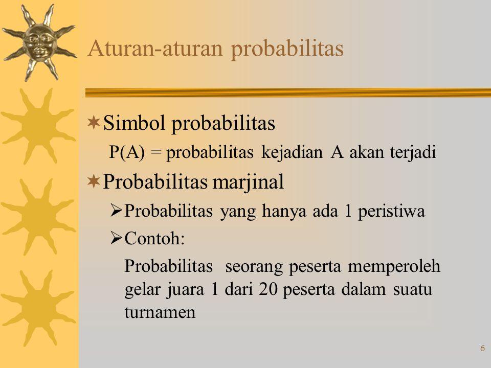 Aturan-aturan probabilitas