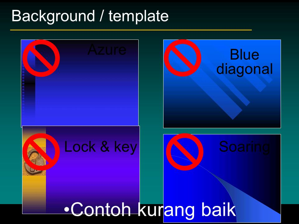 Contoh kurang baik Background / template Azure Blue diagonal