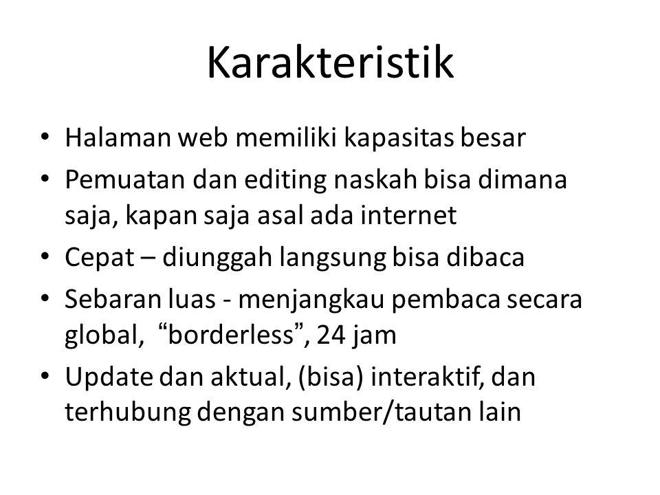 Karakteristik Halaman web memiliki kapasitas besar