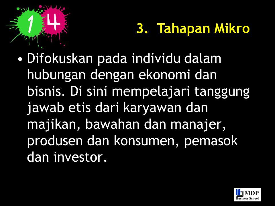 3. Tahapan Mikro
