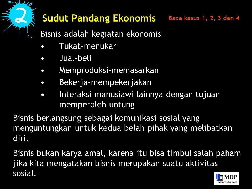 Sudut Pandang Ekonomis