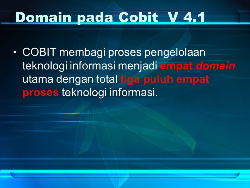 Domain pada Cobit V 4.1