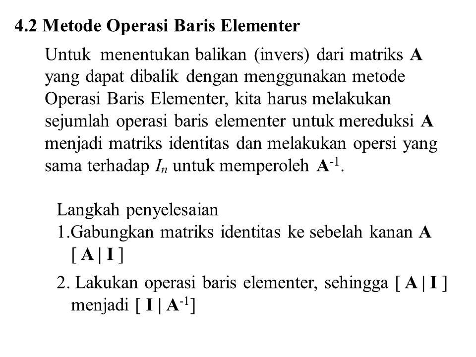 4.2 Metode Operasi Baris Elementer