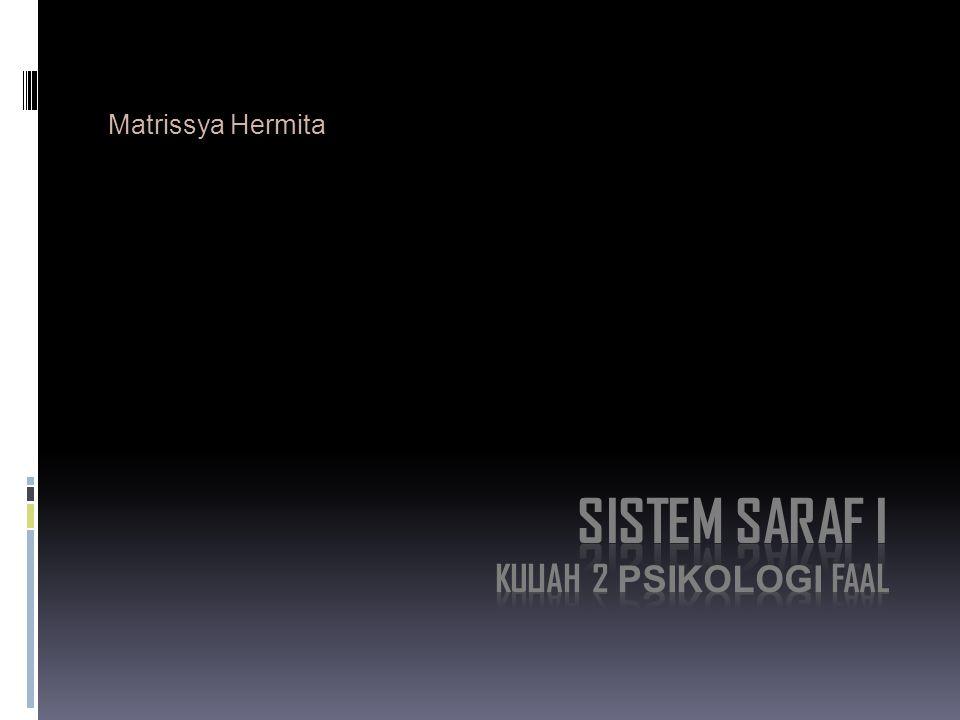 SISTEM SARAF I Kuliah 2 psikologi faal