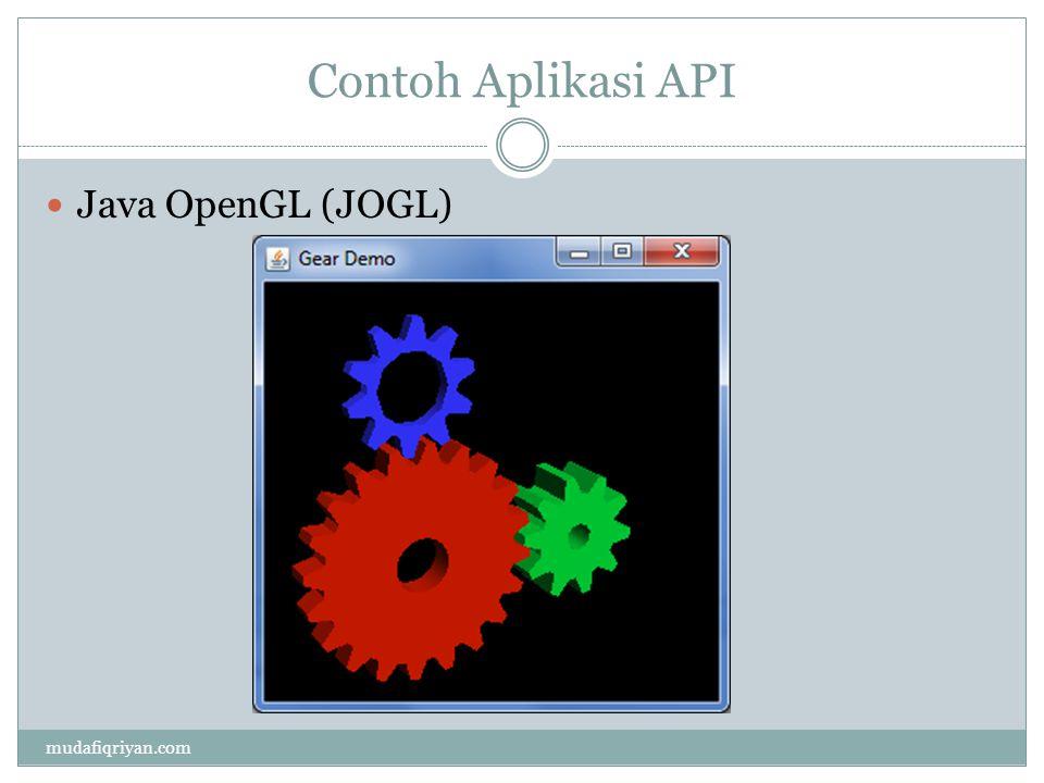 Contoh Aplikasi API Java OpenGL (JOGL) mudafiqriyan.com
