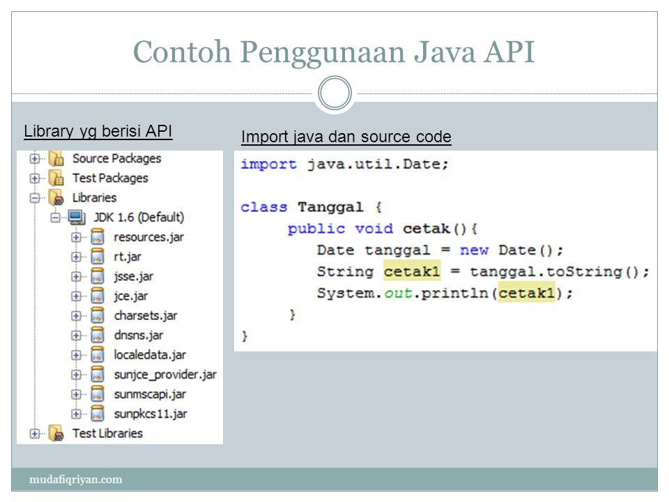 Contoh Penggunaan Java API