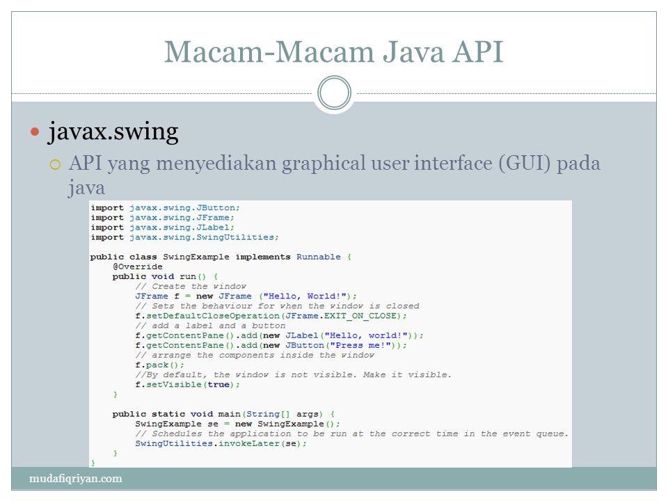 Macam-Macam Java API javax.swing