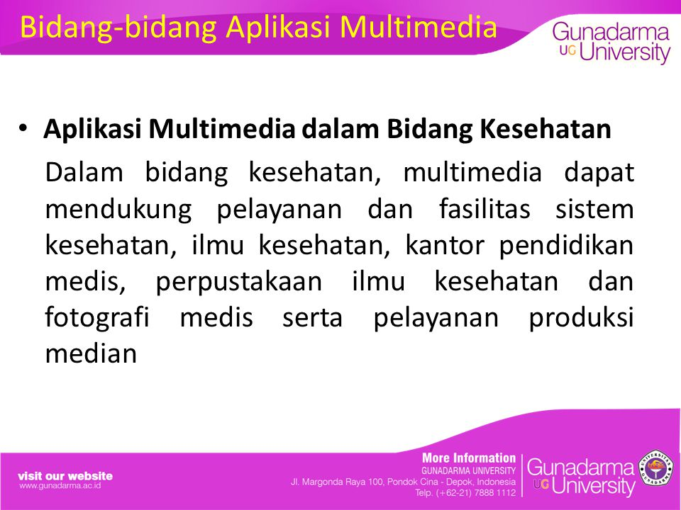Bidang-bidang Aplikasi Multimedia