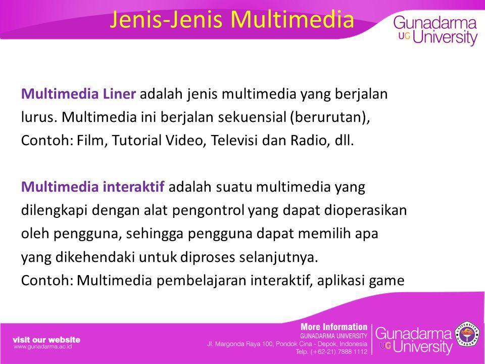 Jenis-Jenis Multimedia