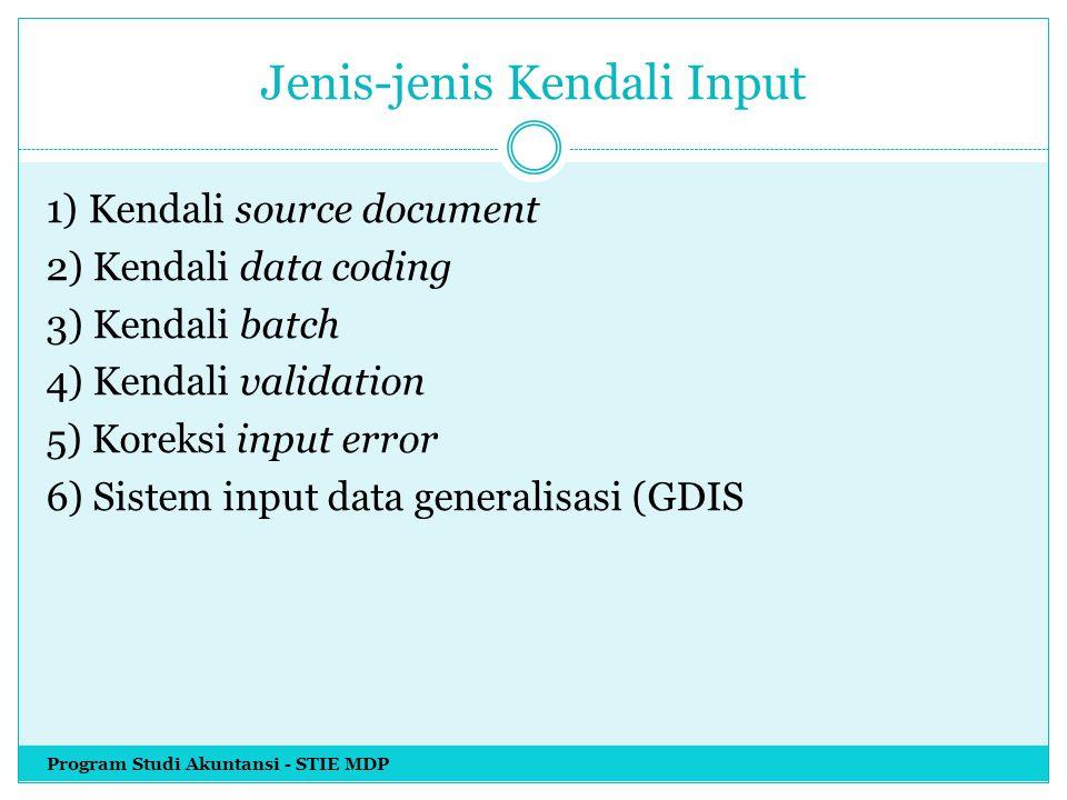 Jenis-jenis Kendali Input