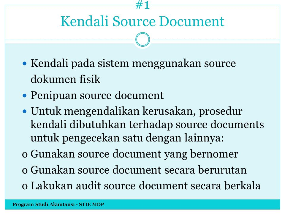 #1 Kendali Source Document