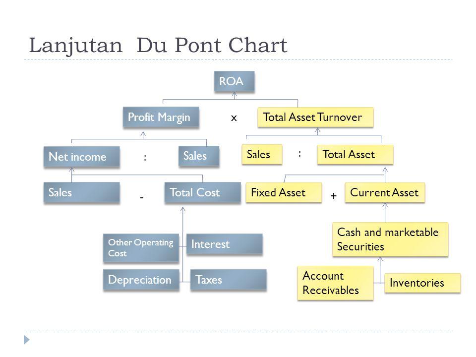 Lanjutan Du Pont Chart ROA Profit Margin x Total Asset Turnover