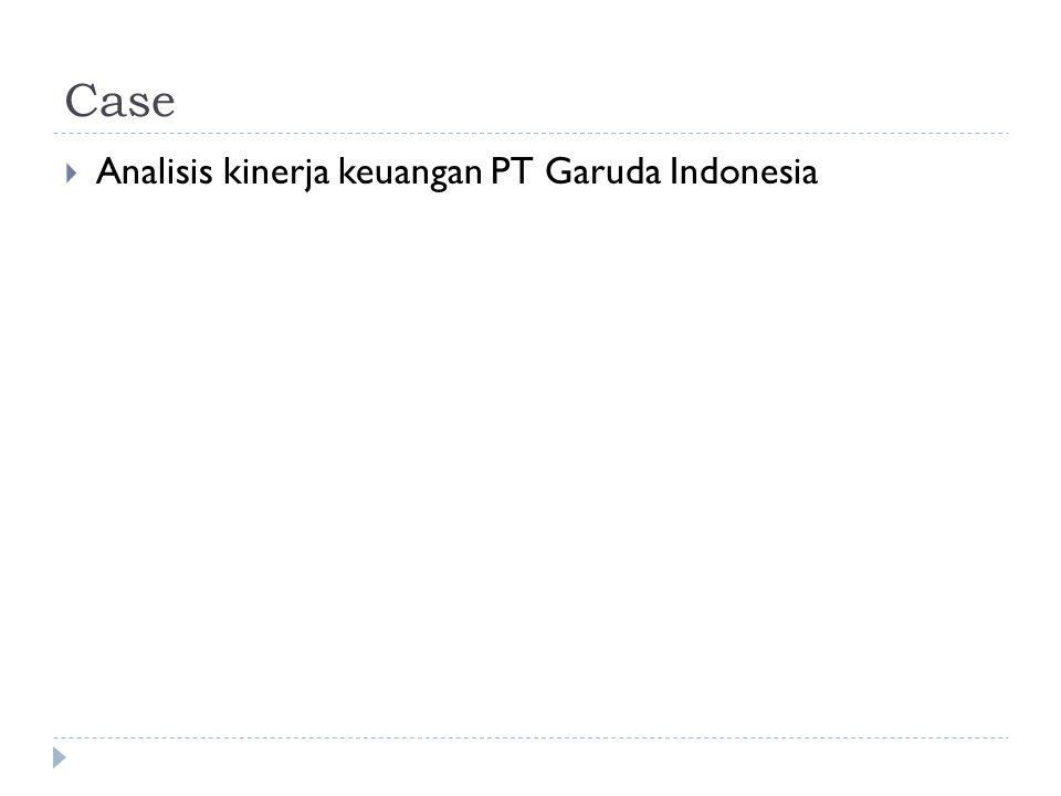 Case Analisis kinerja keuangan PT Garuda Indonesia